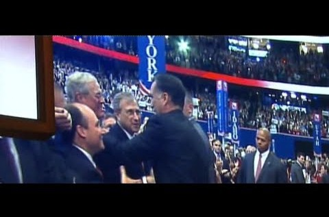 The Romney-Koch Handshake: Network TV Misses Revealing Moment Between Nominee & Billionaire at RNC [Video]