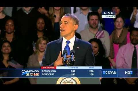 President Barack Obama (@BarackObama) 2012 Election Victory Speech [VIDEO]