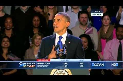 President Barack Obama (@BarackObama) 2012 Election Victory Speech [VIDEO]