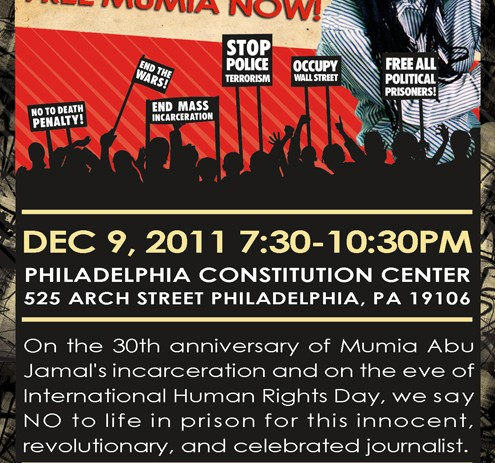 Historic Event For Mumia x Troy Davis To Be Held On Dec 9 at National Constitution Center
