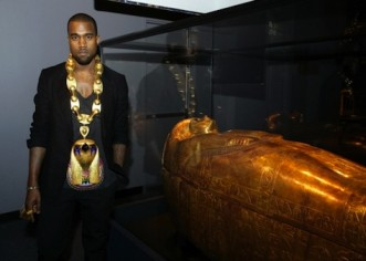 Kanye West Visits The Tomb Of King Tut's Great-Grandmother Tjuya