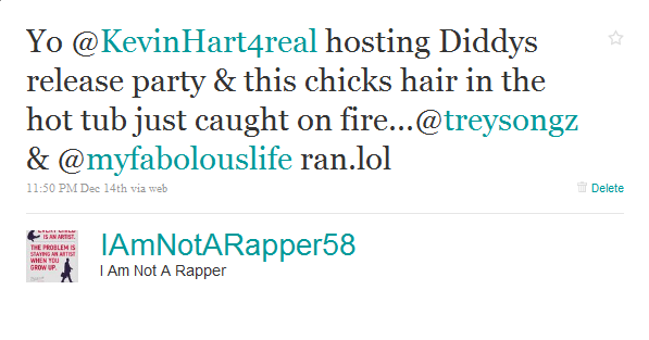Kevin Hart + Fabolous + Trey Songz + Diddy + Model's Hair Fire=Hilarity (Updated)