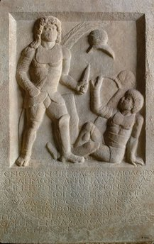Roman Gladiator&#8217;s Gravestone Describes Fatal Foul