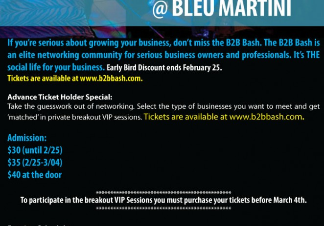 [EVENT] B2B Networking Bash Comes To Philly March 7th