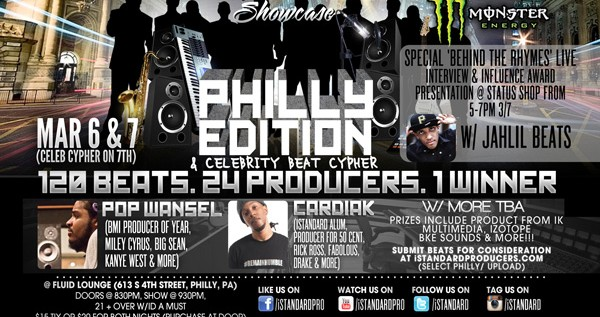 [EVENT] Philly Style @iStandard Producer Showcase – March 6th & 7th 2013 @FluidPhilly