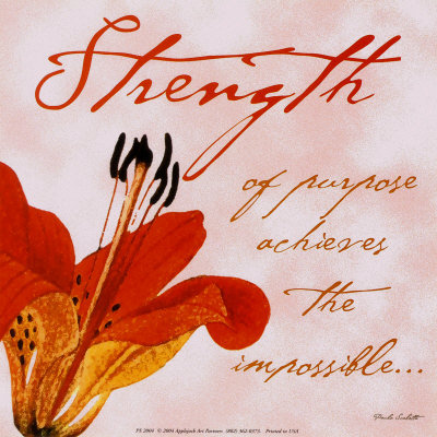Weakness Into Strength . . .