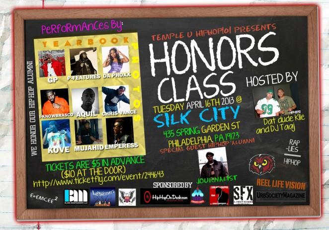 [EVENT] Temple U (@TempleUniv) Hip-Hop 101 Presents: #HonorsClass 4-16-2013