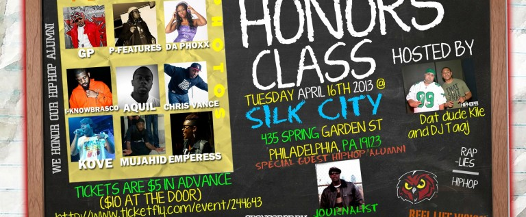 [EVENT] Temple U (@TempleUniv) Hip-Hop 101 Presents: #HonorsClass 4-16-2013