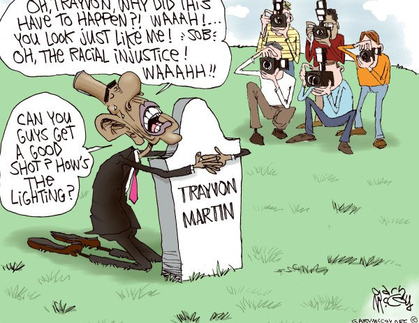 Cartoonist Criticizes Obama for Politicizing Trayvon Martin Murder