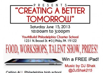 [EVENT] @YBPhilly x PhiladelphiaYouthProject: Creating A Better Tomorrow Conference 6-15-13