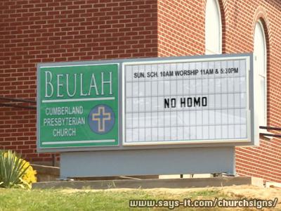 """""""No Homo"""" Finds Its Way Into Politics, Religion (Bol)"""