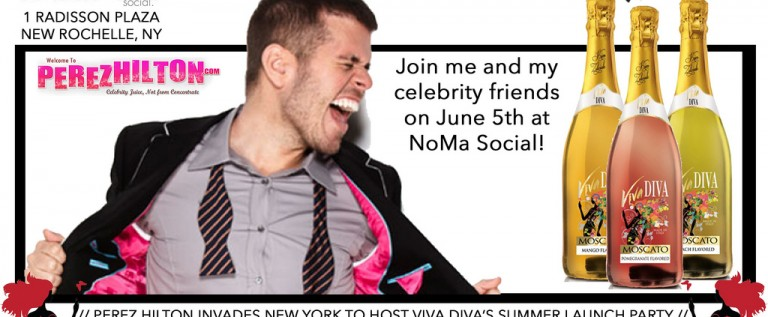 @PEREZHILTON & CELEBRITY FRIENDS HOSTS @VivaMoscato 's SUMMER LAUNCH PARTY @NoMa SOCIAL Jun 5th
