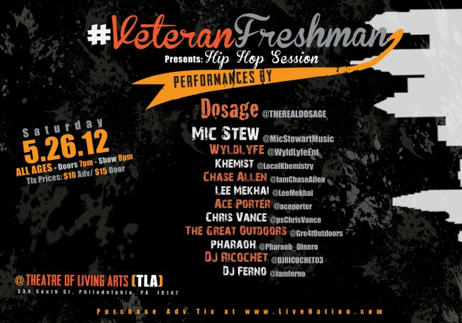 [EVENT] #VeteranFreshman Presents &#8211; &#8220;Hip Hop Session&#8221; Sat May/26 @TLAphilly #VF3