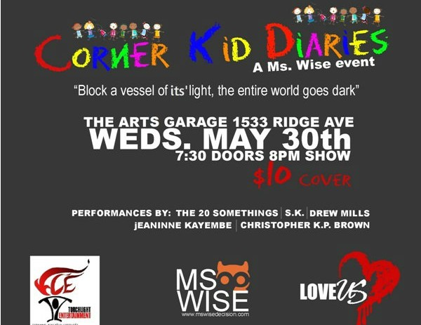 [EVENT] Corner Kid Diaries – a @MsWise event May 30th 2012 @ArtsGarage