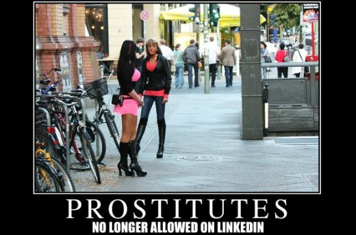 LinkedIn Takes A Stand And Bans Prostitutes
