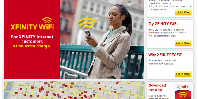 All XFinity WiFi HotSpots Free until August 4th 2013