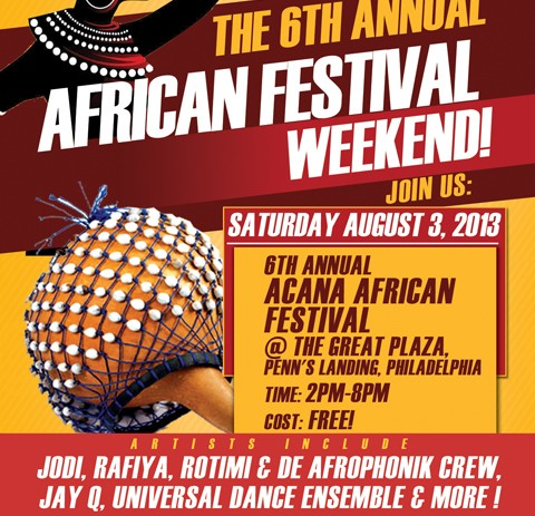 [EVENT] The 6th Annual ACANA African Festival @ Penn's Landing