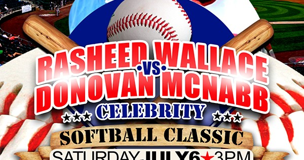 [PHOTOS] Rasheed Wallace Vs Donovan McNabb Celebrity Softball Classic (By @FreshFlickz)