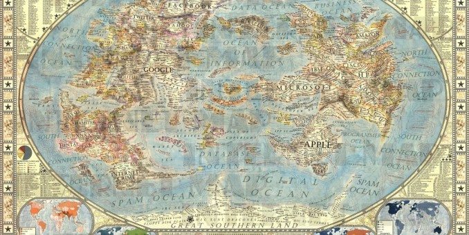 This Mythical Map Of The Internet Is Brilliant
