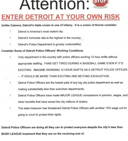 "Police: ""Enter Detroit At Your Own Risk"""