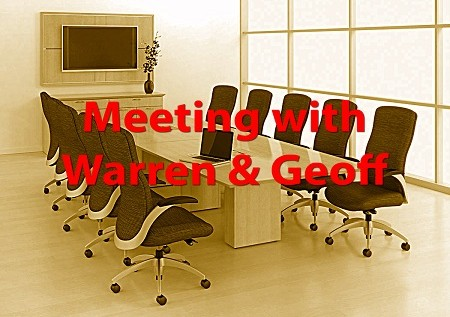 Meeting with Warren & Geoff – A Short Story By: Eric Blair