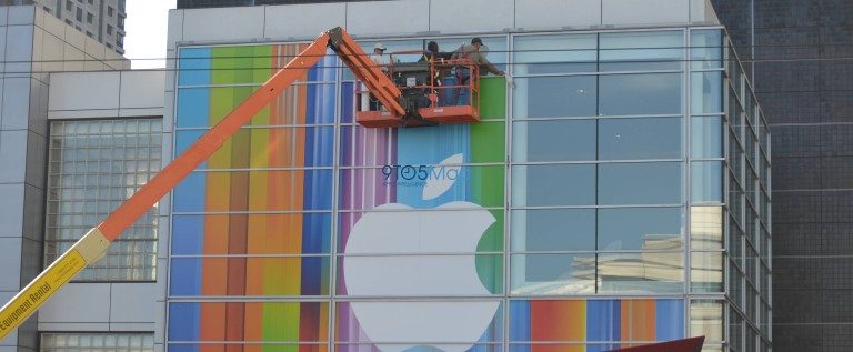 Apple Starts Prepping Yerba Buena Center For September 12th iPhone 5 Event [HD PHOTOS]