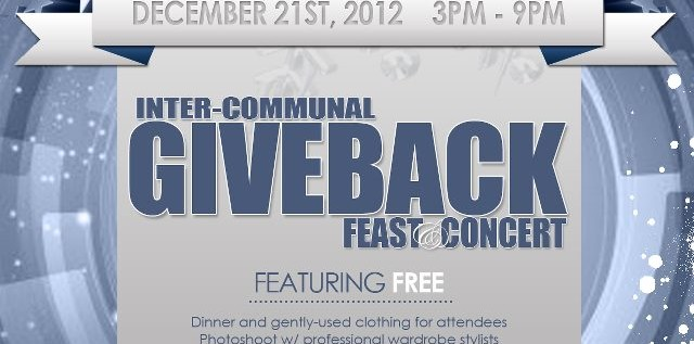 [EVENT] SECOND ANNUAL PHILADELPHIA INTER-COMMUNAL GIVEBACK FEAST/CONCERT THIS FRIDAY 12-21-12