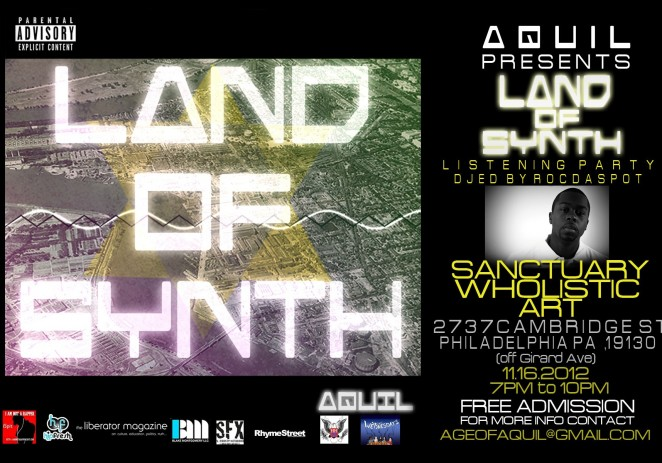 "[EVENT] Aquil  (@Aquil84) Presents – The ""LAND OF SYNTH"" Listening Party"