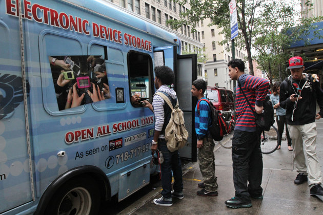 NY Teens Pay Valets To Store Devices