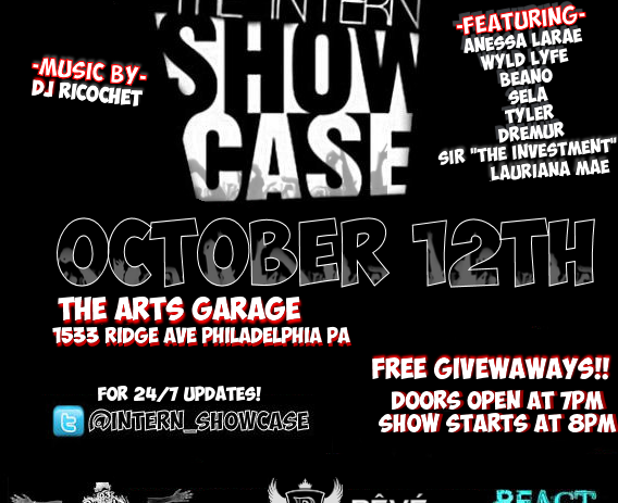 Sony Music Entertainment Presents: The Intern Showcase Concert Oct 12th