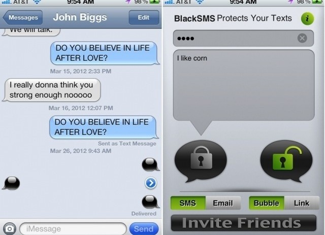 Black SMS iPhone App Encrypts Your Texts, Lets &#8220;Playas&#8221; Play