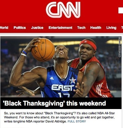 "CNN Calls NBA All-Star Weekend ""Black Thanksgiving"""