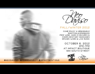 [EVENT] @NeoDaviso x @PeaceNphilly 2012 Fall Clothing Release