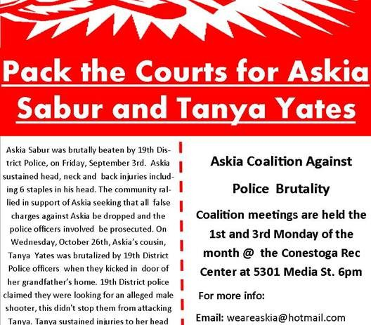 Pack the Courts for Askia and Tanya