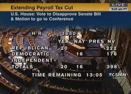 US House Votes Down Payroll-Tax Extension Plan