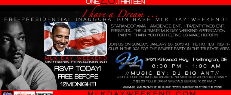 [EVENT] MLK Day Weekend/Customer Appreciation Bash 1-20-13