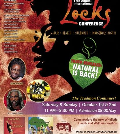 Annual International Locks Conference: Natural Hair, Wholistic Health Oct 1 -2nd