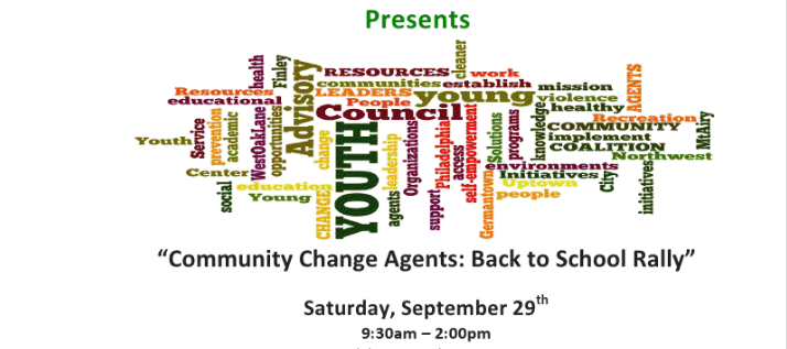 [EVENT] Finley Recreation Center Youth Advisory Council Presents: Community Change Agents: Back To School Rally