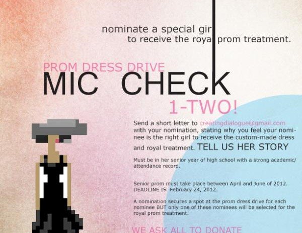 Mic Check 1-Two Presents: Prom Dress Drive &#8211; Nominate A &#8220;Special Girl&#8221; to Win!