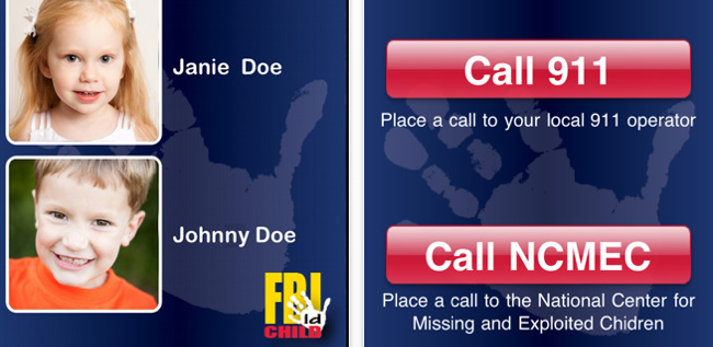 FBI Launches Child ID App To Help Identify and Find Missing Kids